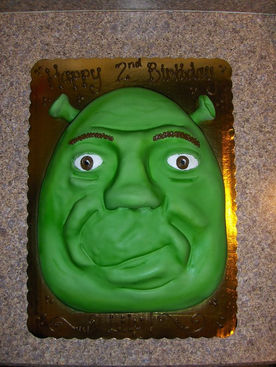Excellent Shrek Birthday Cake Corinne Alyse Cakes Funny Birthday Cards Online Elaedamsfinfo