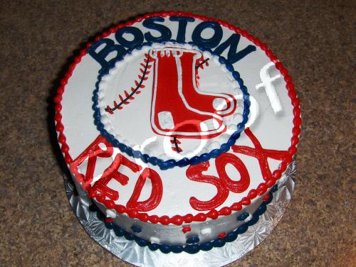 Fabulous Boston Red Sox Cake Corinne Alyse Cakes Funny Birthday Cards Online Inifodamsfinfo